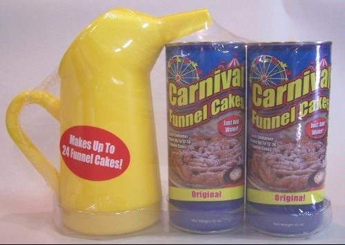 Carnival Funnel Cake Maker Mix 2 Pack & Pitcher Set