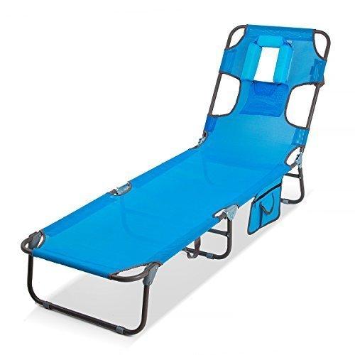 HomeKraft Smart Gartenliege Strandliege Sonnenliege Atmungsaktiv (Blau)