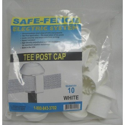Powerfields R-4-W Bag Of 10 T-Post Cap, White
