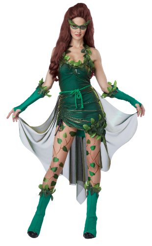 Women's Posion Ivy Batman Super Villainess Costume. Sizes XS to XL