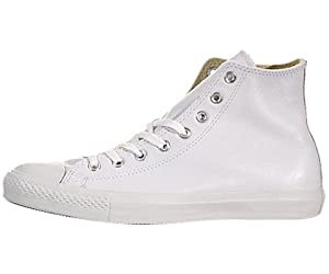 Converse Men's Chuck Taylor All Star Leather Hi Sneaker 7.5 White