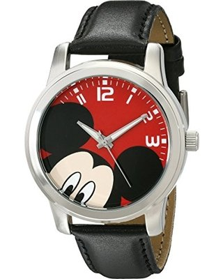 Disney Unisex W001842 Mickey Mouse Analog Display Analog Quartz Black Watch