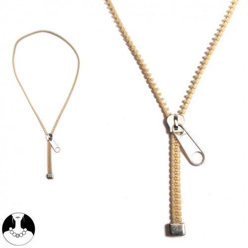sg paris teenager necklace necklace 70cm beige plastic