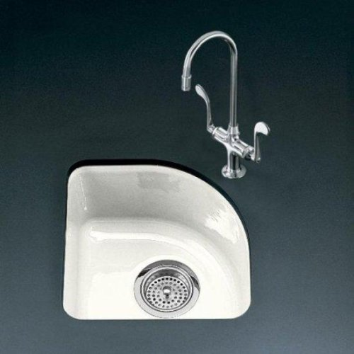Buy KOHLER Sorbet Undercounter Entertainment Sink, White #K-5902-1U-0 (Kohler Sinks, Plumbing, Sinks, Bar)