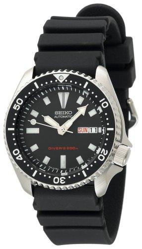 Seiko Men's SKX173 Automatic Dive Urethane Strap Watch