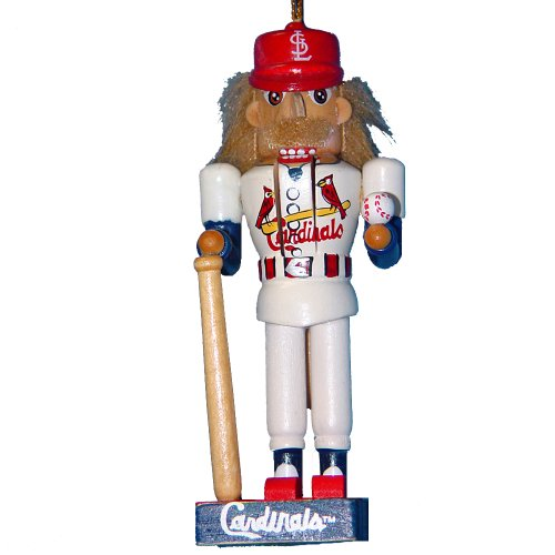 Kurt Adler 5-Inch St. Louis Cardinals Baseball Player Nutcracker Ornament at Amazon.com