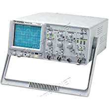 Instek GOS-6103C Portable Analog Oscilloscope with 2 Channel, 100MHz, 16kV Accelerating Potential, 100MHz Frequency Counter
