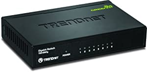 TRENDnet 8-Port Unmanaged Gigabit GREENnet Desktop Metal Housing Switch, TEG-S82g by TRENDnet