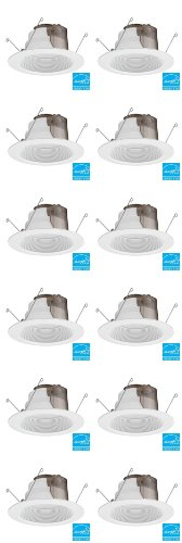 Lithonia Lighting 6 In. Recessed White Led Baffle Downlight- (12 Pack