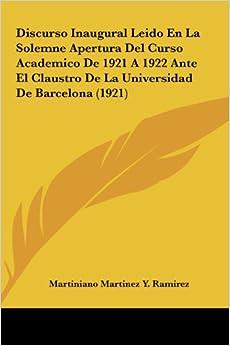 Universidad De Barcelona (1921) (Spanish Edition): Martiniano Martinez