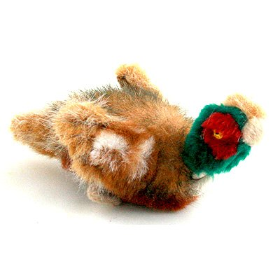 AKC Outdoor Rope Neck Pheasant Mini Dog Squeak Toy