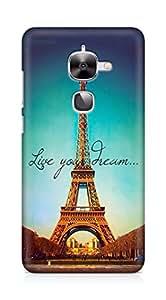 Amez designer printed 3d premium high quality back case cover for LeEco Letv Le 2 (Live Your Dream Paris Eiffel Tower)