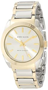 Anne Klein Women's AK/1061SVTT Round Two Tone Watch