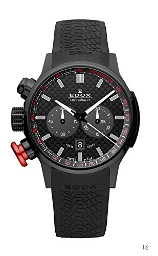 Edox-Mens-10302-37N-NIN-Chronorally-Analog-Display-Swiss-Quartz-Black-Watch