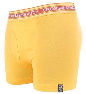 Crosshatch 'Fireglow' Mens Boxer Short Yellow S