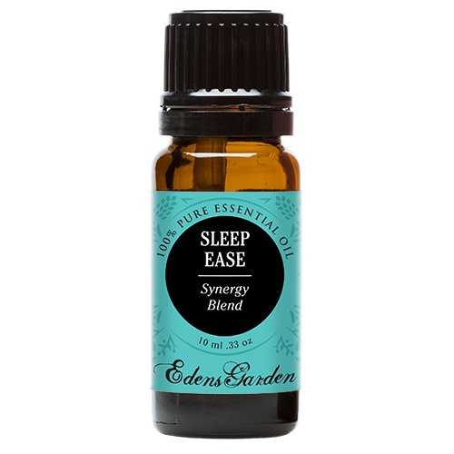 Sleep Ease Synergy Blend Essential Oil by Edens Garden- 10 ml (Camphor, Chamomile, Coriander, Geranium, Jasmine, Lavender, Lemon, Rose, Rosewood, Palmarosa and Ylang Ylang)