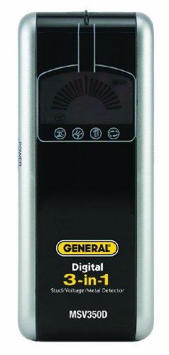 General Tools & Instruments Msv350D 3-In-1 Lcd Stud/Voltage/Metal Detector