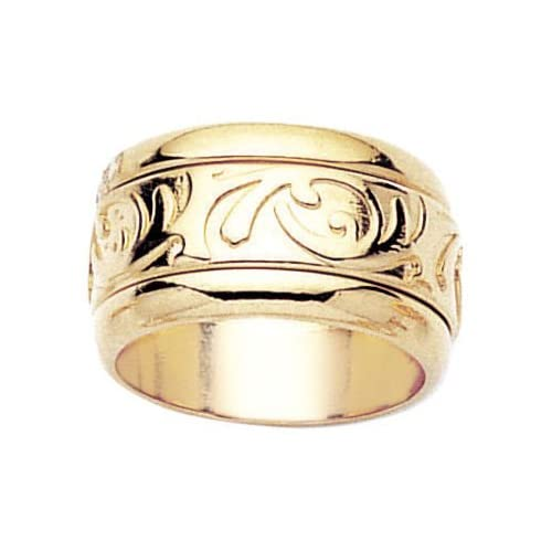 18K Gold Plated Spinning Band Ring   Size 10.5