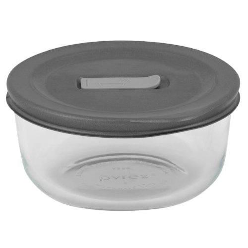 2 Cup Pyrex No Leak Lids Round With Plastic Lid Sold in packs of 6