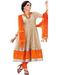 Pagli Chanderi Printed Anarkali Suit With Gotapatti And Thread Work