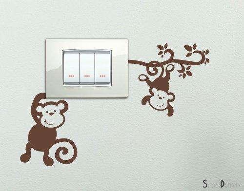 Wall Sticker Adesivo Parete Forma Vine Scimmia Metro Casa