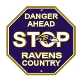 Baltimore Ravens Plastic Stop Sign Danger Ahead Ravens Country