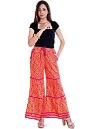 Shop Hatke Now Latest 2017 Cotton Printed Tier Plazzo Pant With Pockets 106