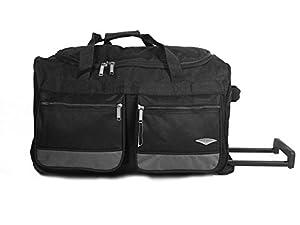 """60cm/24"""" Medium WHEELED HOLDALL SUITCASE LUGGAGE TRAVEL DUFFLE BAG"""