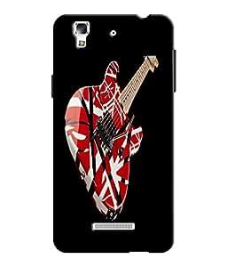EU4IA Guitar Pattern MATTE FINISH 3D Back Cover Case For MICROMAX YU YUREKA -...