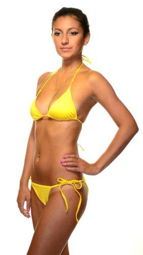 Dolce & Gabbana Bikini Swimsuit Yellow Style 24Q00209 Sizes XS,S,M