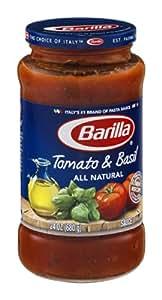 Barilla Tomato & Basil All Natural Pasta Sauce 24 oz (Pack of 12)