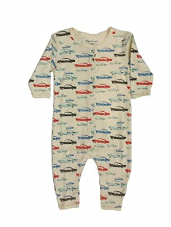 Organic Cotton Baby Romper One Piece Sleeper (0-3 months, Cars)