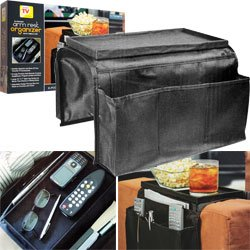 6 Pocket Arm Rest Organizer w/ Table-top the Arm Rest Organizer From Trademark Is the Perfect Addition to Any Family Room Couch or Chair