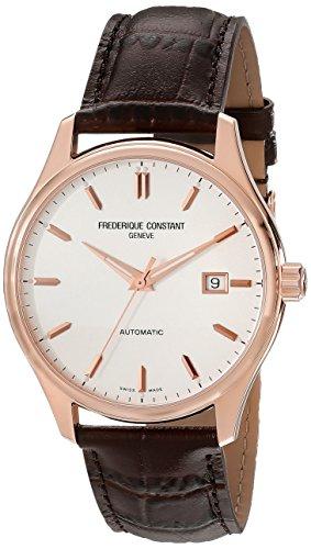 Frederique Constant FC303V5B4 - Reloj para hombres, correa de cuero color marrón