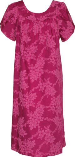 MuuMuu House Dress - Tropical Garden Lei Petal Sleeves Caftan Kaftan ...
