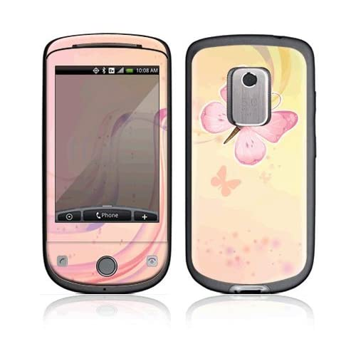 Pink Butterfly Decorative Skin Cover Decal Sticker for HTC Hero (Sprint) Cell Phone