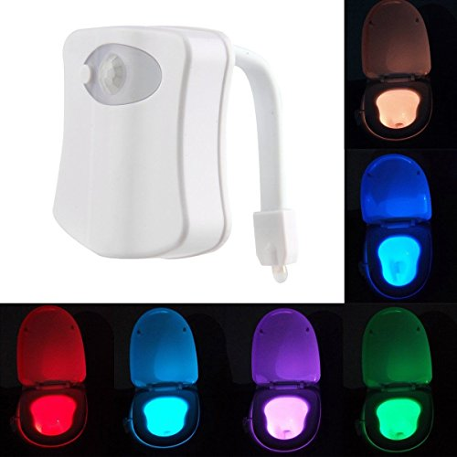 LED Toilet Bathroom Night Light Human Motion Activated Seat Sensor Lamp 8 Colors (Zigbee Appliance Module compare prices)