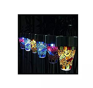 Solar Mosaic Garden Border Post Stake Lights from Coollooda