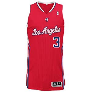NBA Los Angeles Clippers Red Authentic Jersey Chris Paul #3, Medium