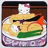 ハローキティ<br>天ぷら子猫キティ<br>てぬぐいハンカチ<br>(ガーゼプチタオル)<br><a href=