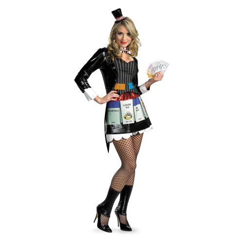 Sassy Deluxe Ms Monopoly Womens Costume