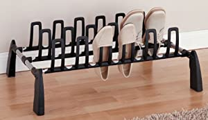Organize It All Basic 9-Pair Shoe Rack