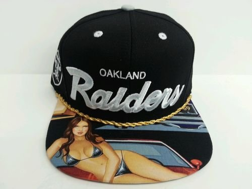 Mitchell and Ness NFL Oakland Raiders Custom Snapback Cap: LowRider by Mitchell & Ness