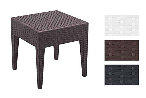 CLP-Design-Garten-Beistell-Tisch-MIAMI-45-x-45-cm-Vollkunststoff-in-Rattan-Optik-stapelbar-Sonnenliegen-Beistelltisch-braun