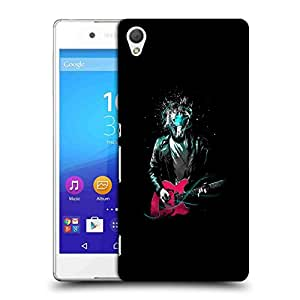 Snoogg Man Without Face Playing Guitar Designer Protective Back Case Cover For SONY Z4 COMPACT