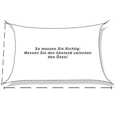 hanSe® Marken Sonnensegel Sonnenschutz Segel Rechteck 5x6 m von hanSe bei Gartenmöbel von Du und Dein Garten