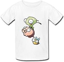 RenHe Kid39s Geek Invader Zim Gir And Piggy T-shirts