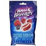 【のど飴】ホールズ クールベリー味 Halls Breezers Drops  Cool Berry  25-Count Drops (25粒入り)