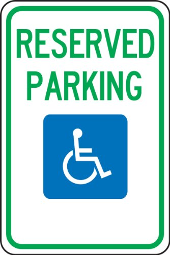 Accuform signs fra216ra engineer grade reflective aluminum for Handicap parking sign template