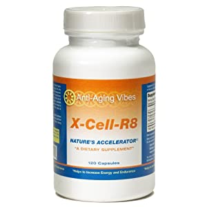 41WJheRN63L. SL500 AA300  Anti Aging Vibes X Cell R8 Energy Nutrition Supplement, 120 Capsules